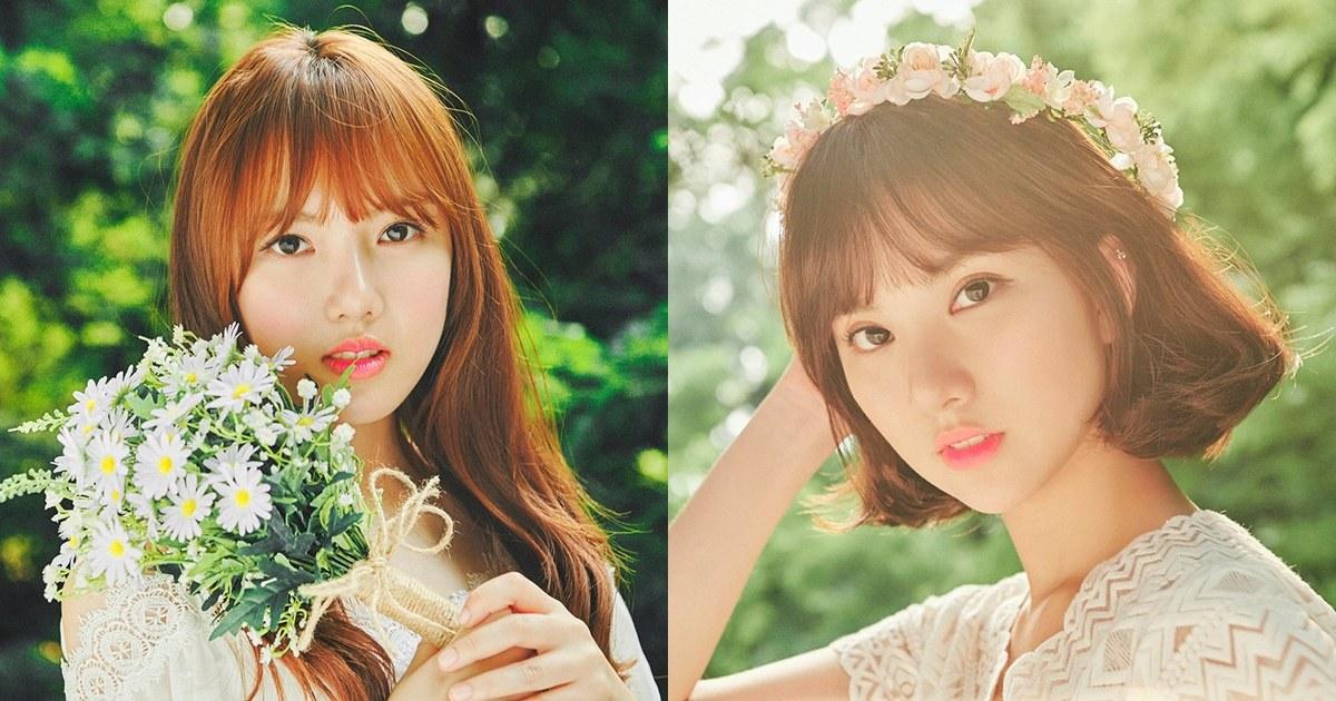 短髮的Eunha真的超級可愛阿!!Yerin手上拿著的花束根本女神!