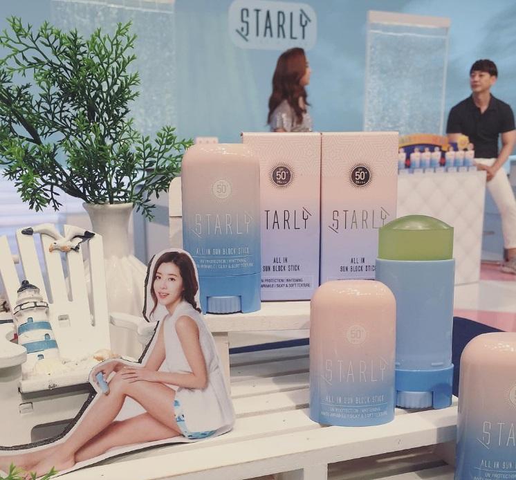 以粉底、防曬做為開端,強調防水、透明、薄透、方便使用 不過,Starly目前沒有實體店面,只能靠網路購買,價格大約500台幣左右也算平價