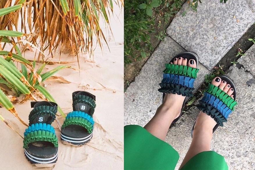同系列的還推出了拖鞋~~·該系列也是SUECOMMA BONNIE今年夏天的主打。