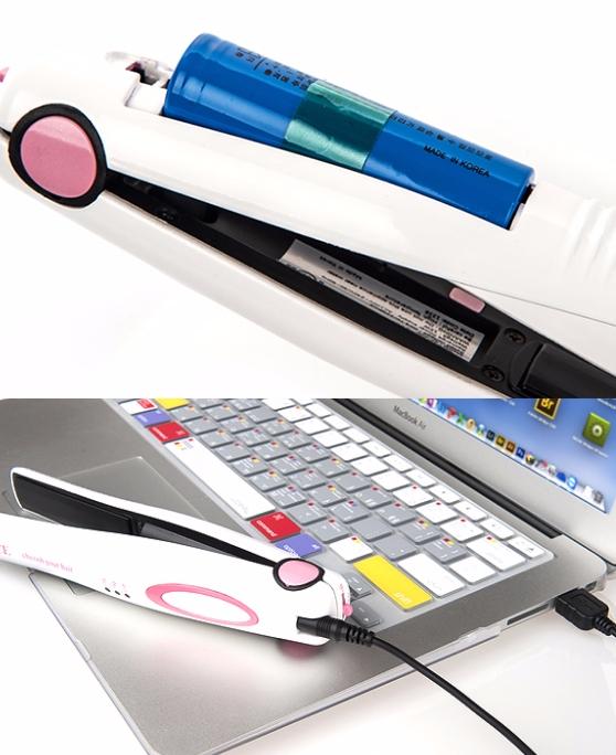 內附的電池大概可以用1年~1年半,在家時也可以用任何USB接口充電。
