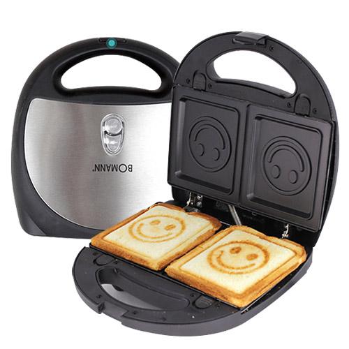 ⑥[BOMANN]微笑吐司機 把吐司上也印上笑臉,美好的一天就從一個笑臉開始,最適合做兒童早餐了。