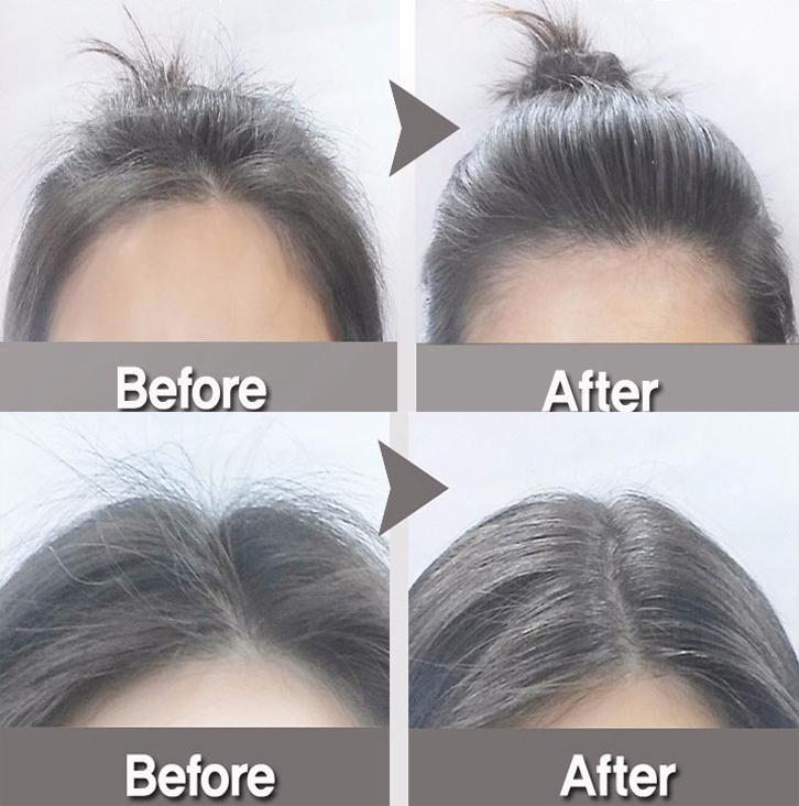 比睫毛膏的刷頭還細的刷頭設計,只要輕輕刷在雜毛多的地方,再用手塗抹均勻,直立的雜毛馬上變服貼。