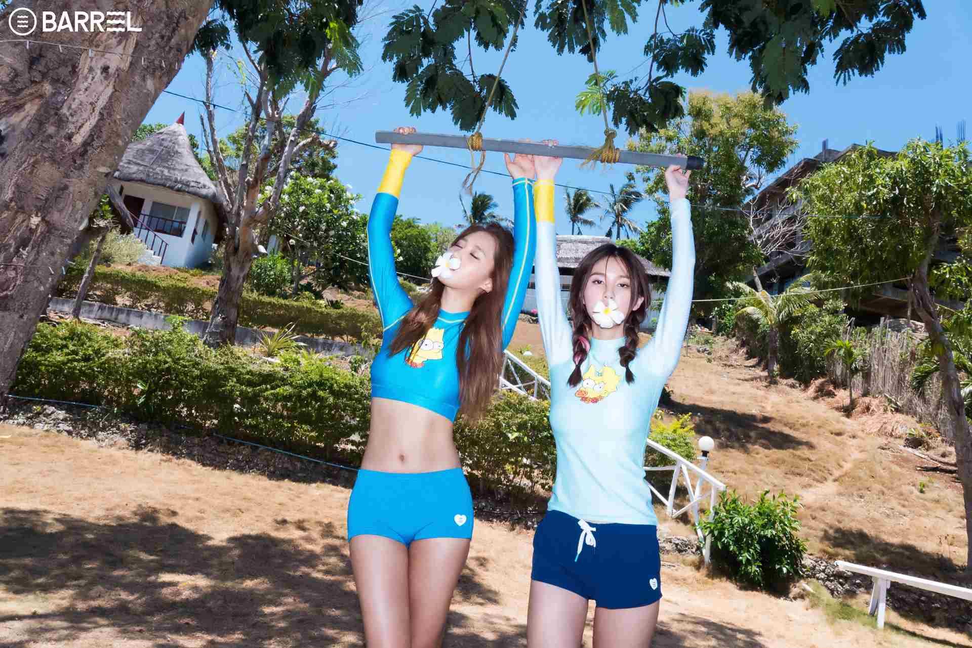 正是少女時代Yuri跟表妹Vivian的代言畫報照