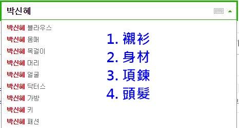 不僅如此劇中使用過的東西也被粉絲們搶空啦~~在韓網搜尋〝朴信惠〞會出來這些關鍵字!