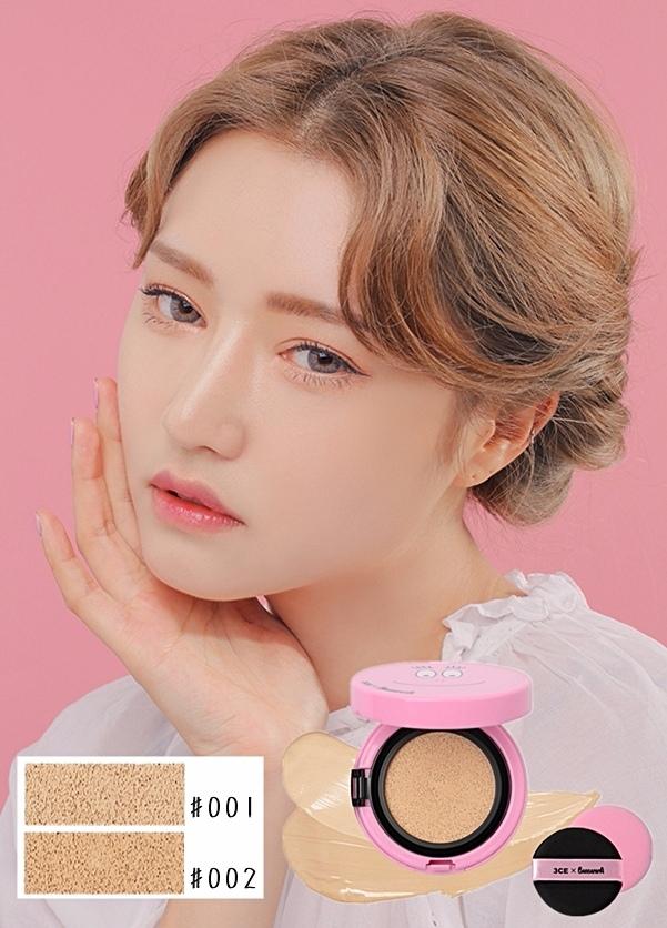 氣墊粉餅光是外觀就讓偽少女覺得受不了,也太可愛了吧♡♡♡♡♡ 這款氣墊粉餅共分兩個色號,白皙跟自然!
