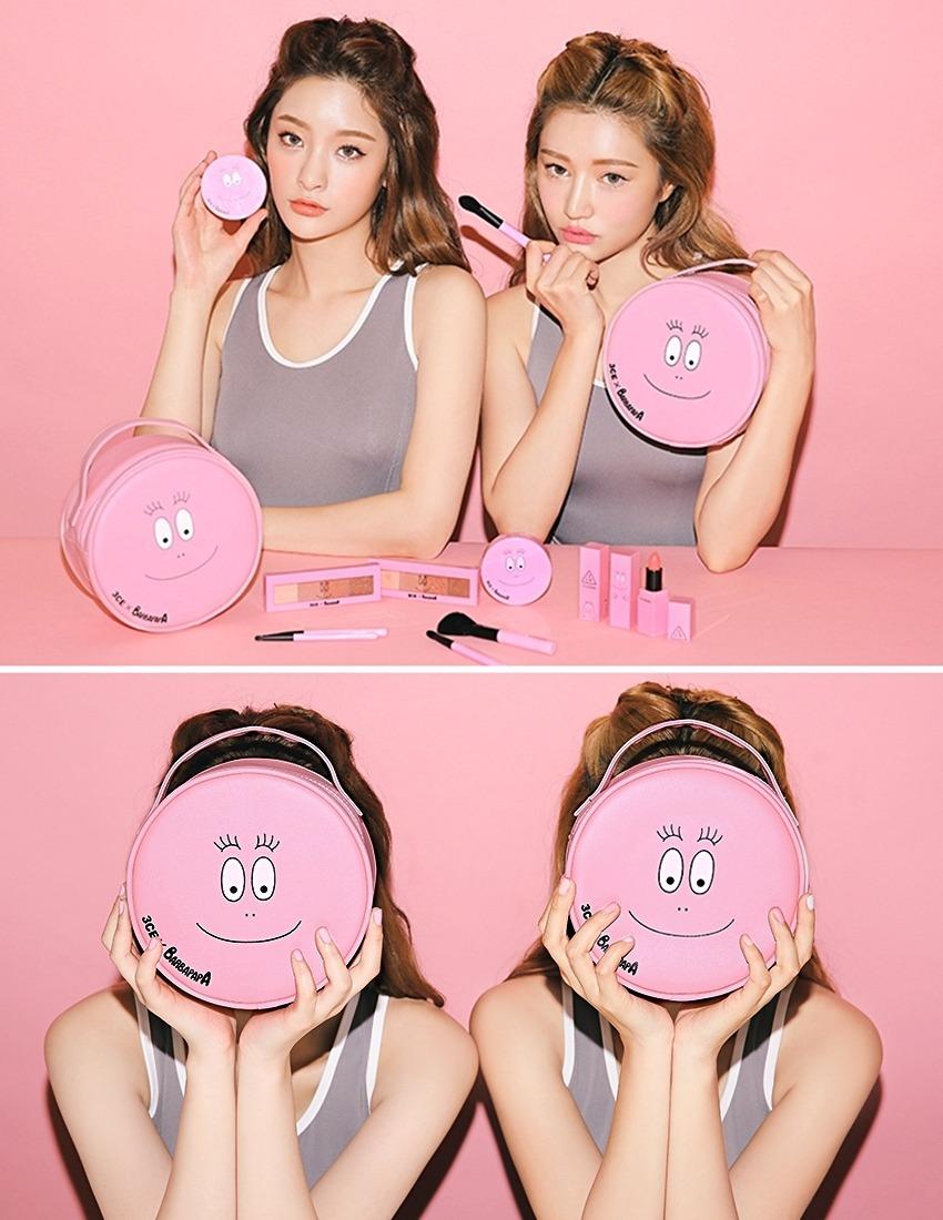 系列中也有出泡泡先生的化妝包! 配色不僅粉嫩,圓圓的包身是不是超可愛♡♡♡