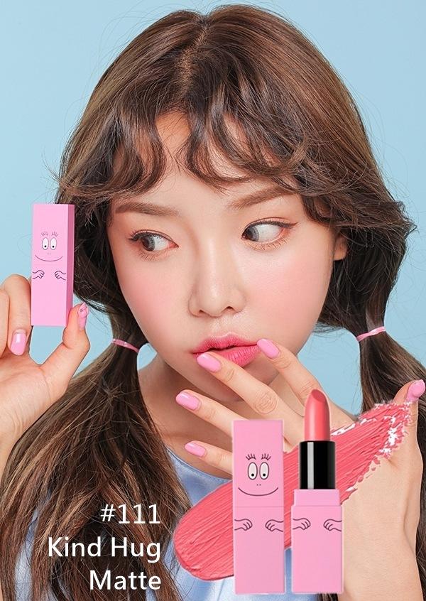 唇膏也有三個色號 這個亮粉超美阿♡♡♡