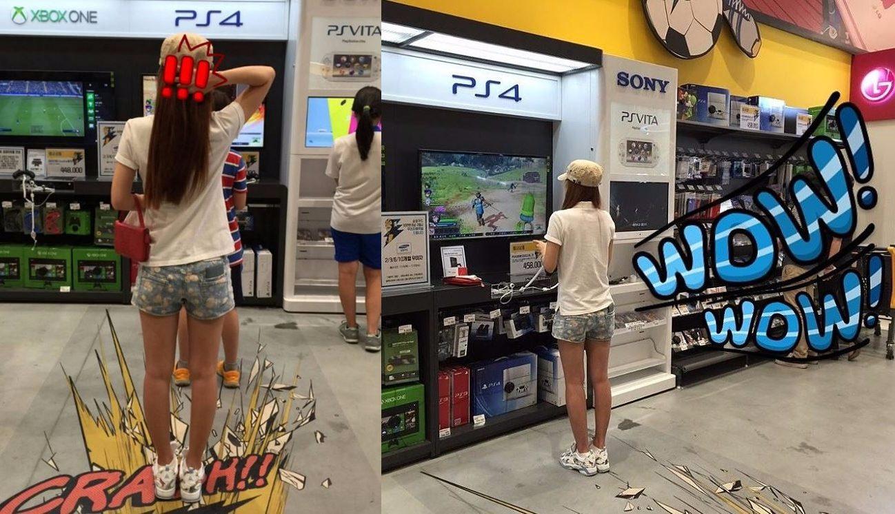 Rainbow - 智淑 因為太喜歡玩PS4了就一直去大賣場玩,排隊排好久都要玩