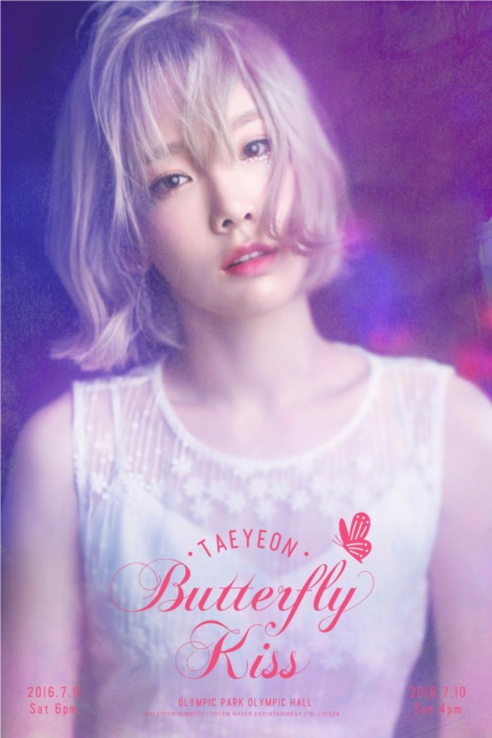先從演唱會海報開始看起 *太妍個人演唱會《TAEYEON, Butterfly Kiss》宣傳海報