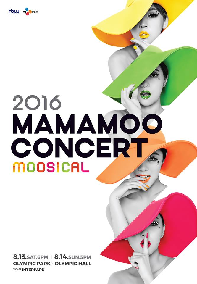MAMAMOO也即將在8月13日、14日在首爾舉行首次單獨演唱會「2016 MAMAMOO CONCERT-moosical」。兩場6200張門票在一般發售開始1分鐘內全部售罄,可見MAMAMOO的人氣!(希望將來有機會可以來台灣辦一場~~)