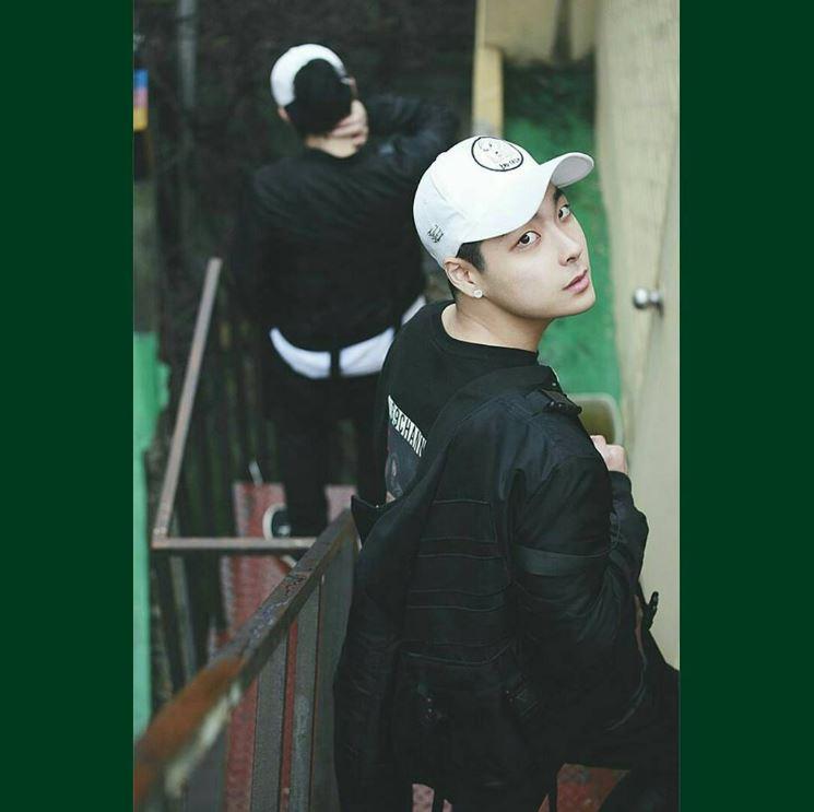 沒錯!就是宋旻浩的表弟-#GUN(샵건),本名是宋建熙(송건희),為Starship娛樂NUBOYZ四人男子練習生預備團體的一員。