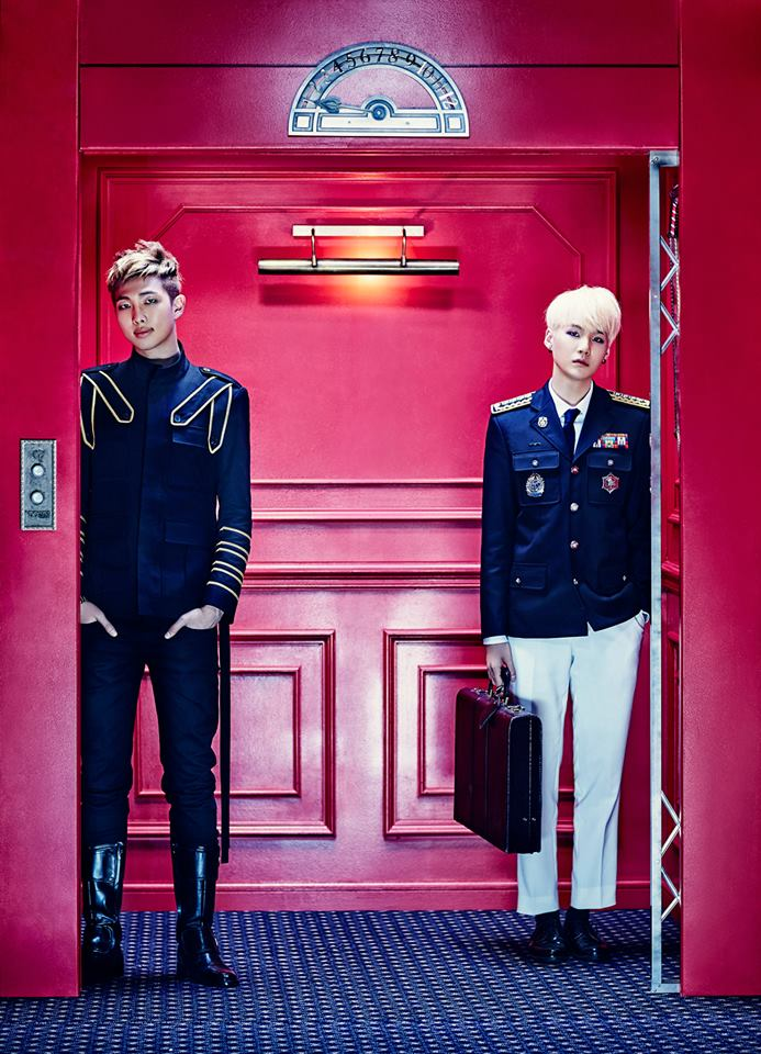 後來閔爺爺(X)閔 SUGA(O)也走進電梯裡