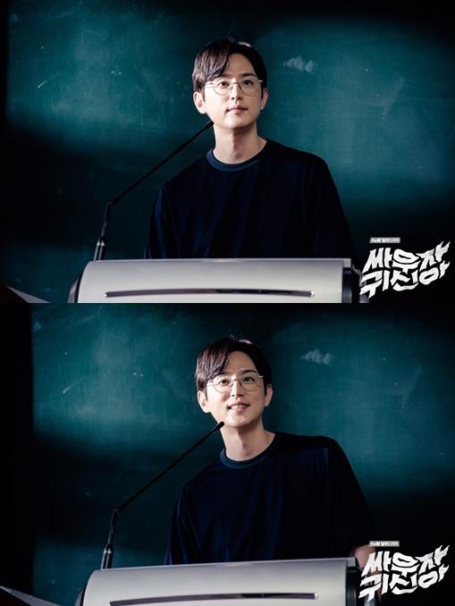 然而在今年tvN又推出新的一部納涼電視劇《打架吧鬼神》,沒想到繼林周煥之後,這次是權律演出這個「天使和魔鬼共存」的角色!