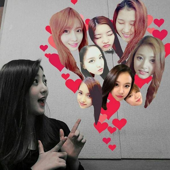 而且,還自己做圖片上傳到SNS上面對成員們表示愛意~~~!!