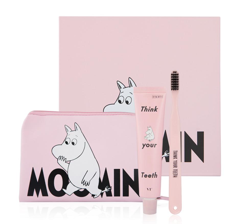 最後再為大家介紹旅行專用套裝,只有櫻花粉一種顏色,包包裡除了放牙膏牙刷,還可以一起放其它的洗漱用品。