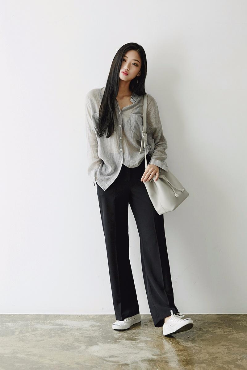 雖然說褲子短一點比較顯高,如果你腿足夠長,長款更有氣質。