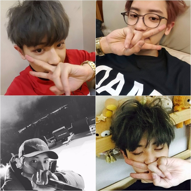 EXO 燦烈 講到剪刀手刀然不可以少了燦烈阿,翻翻燦烈的Instagram就是剪刀手集合相冊!不只彩排的時候要比一下,睡前也要比一下,可能夢中也都要比一下唄~