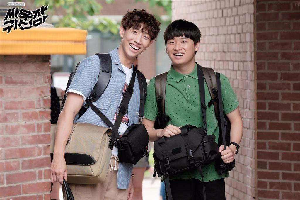►2016年 tvN月火劇《打架吧鬼神》 姜其永真的很常演tvN的戲劇(笑) 在《打架吧鬼神》中,姜其永飾演ghost net社團的會長兼網絡放送BJ。