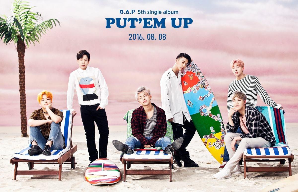 B.A.P也要在8月8日帶著第五張數位單曲<PUT'EM UP>回歸