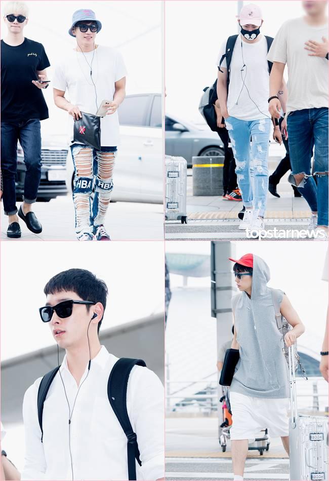 好久不見的2PM~Jun.k跟Nichkhun都破褲上身~欸~是說澤演去哪裡了?