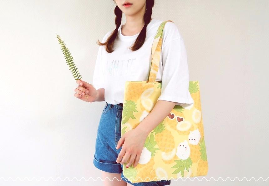 今年熱門帆布袋也是要跟上夏天的黃色流行風潮
