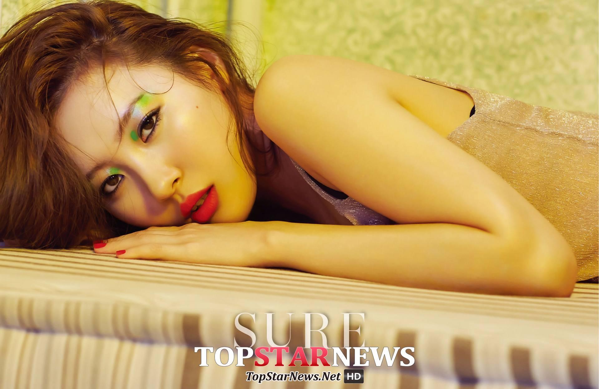 Wonder Girls的宣美也以「夏日晚上的夏天look」為主題,穿過睡衣穿搭登上雜誌唷~