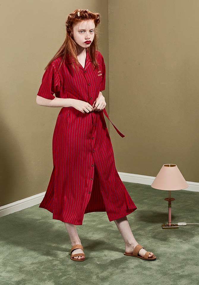 這款格紋連身裙很有大氣的歐美味,不過很容易穿成睡衣XD