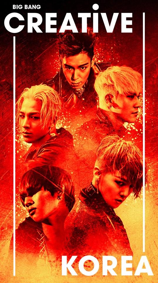 而韓國文化體育觀光部也成立「CREATIVE KOREA」的國家品牌,而這個新國家品牌的代言人與形象大使,選定了在韓國國內跟海外都有十足影響力的BIGBANG擔任。