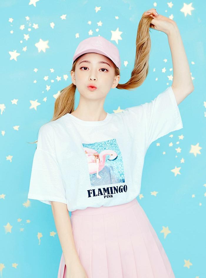 icecream12 - 紅鶴印花上衣 除了經典印花,當下流行的圖案也是時尚女孩必備唷
