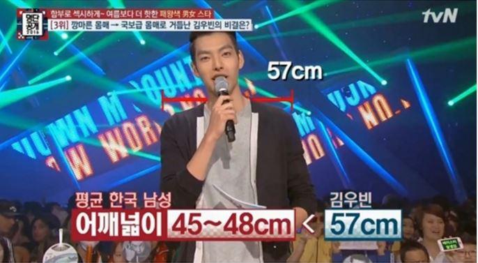 金宇彬的肩膀甚至比韓國男生的平均肩寬大至少10公分!不只外表性感,公開戀愛之後對女友的照顧也被韓國媒體稱為最佳男友的代表之一!