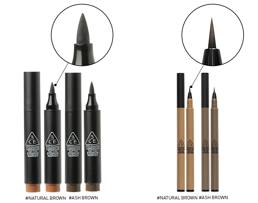 除了剛剛那隻之外,3CE還有一隻_極細紋身液體眉筆,兩隻的差別就是細度啦~~~~~ 不過眉筆那麼細...要幹嘛(?)