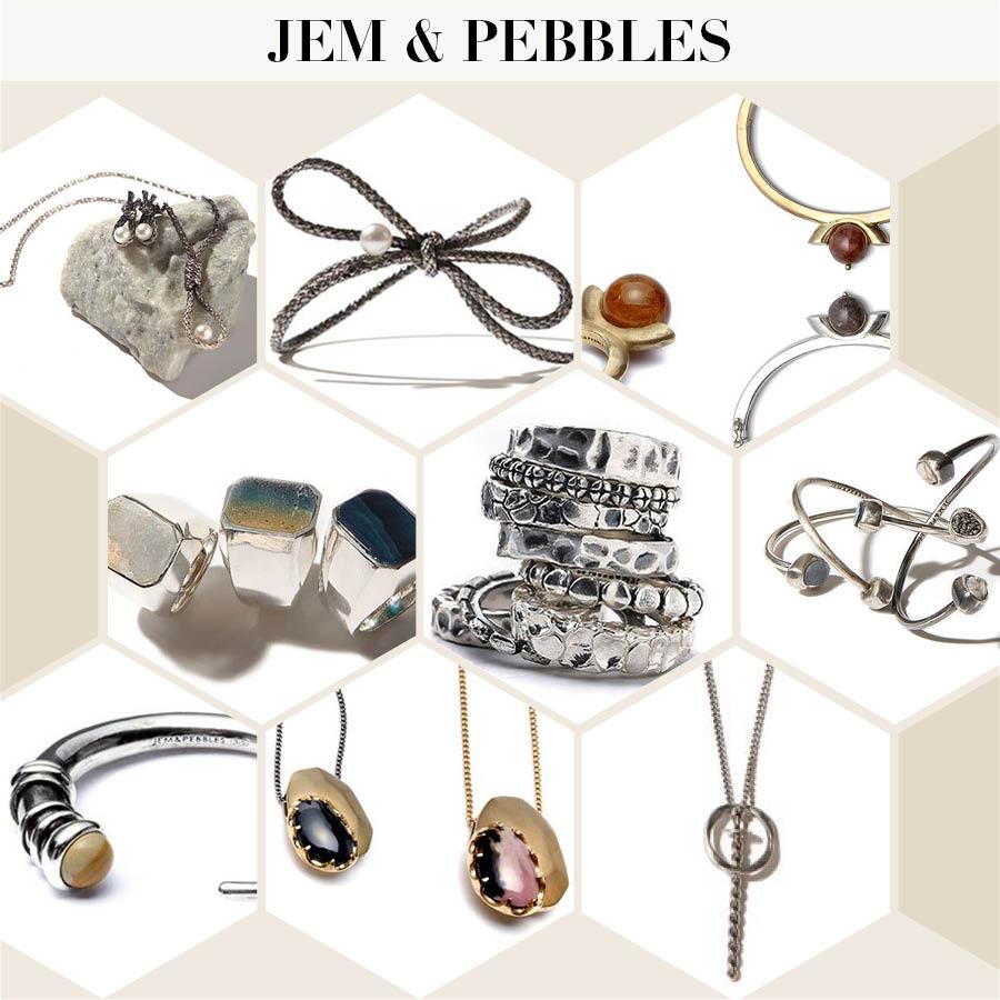 如果說前面兩個品牌是以時尚的設計抓住人心的話, JEM & PEBBLES則是以保留原材料特質的獨特工藝法,充分展現復古氣質來取勝的!!