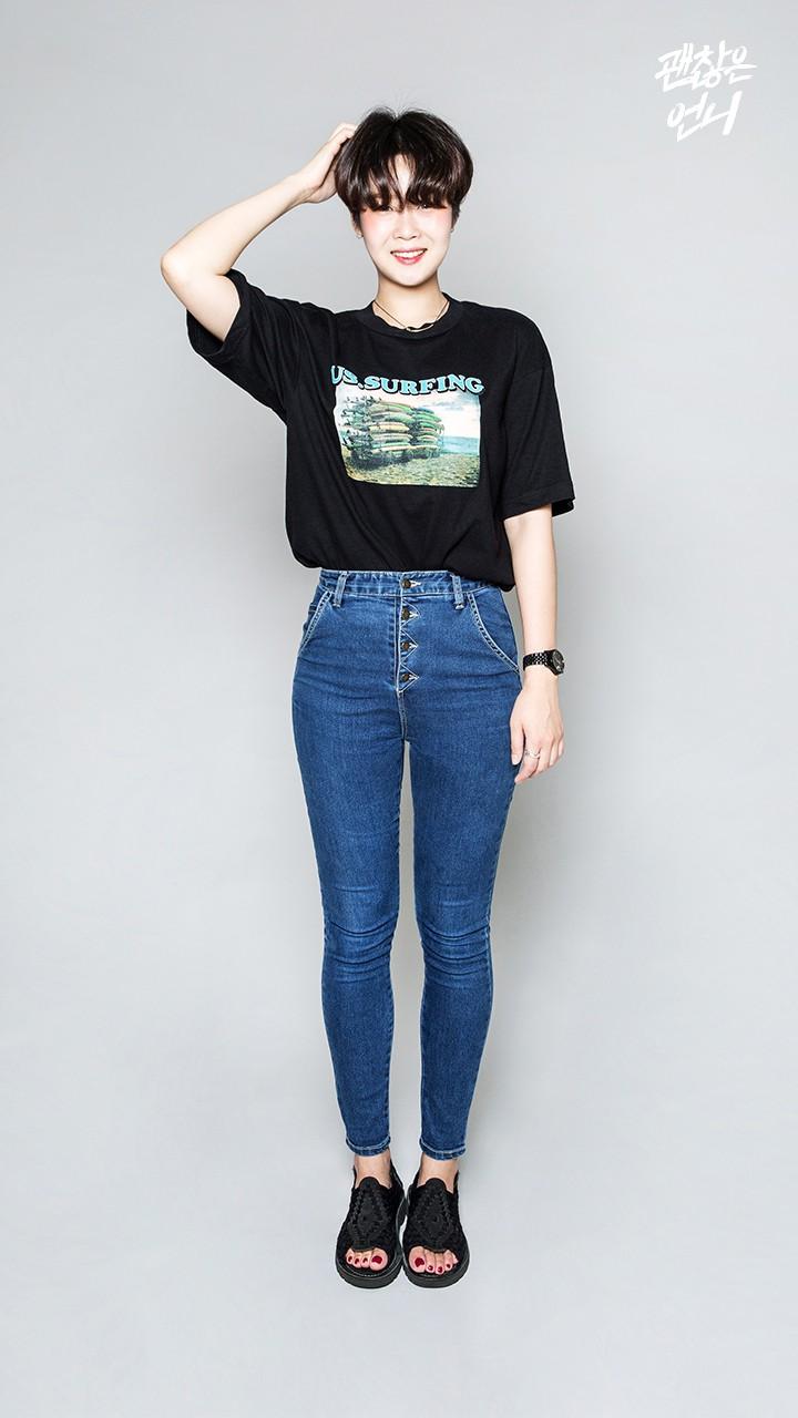 ▶ 高腰牛仔褲 這個造型是摩登少女覺得最好看又實穿的!不覺得上班出遊都很適合嘛~
