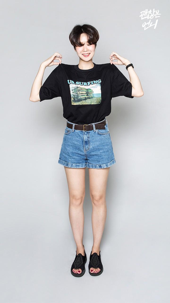 ▶ 牛仔短褲 當然也不能漏掉夏天必備的高腰牛仔短褲~~