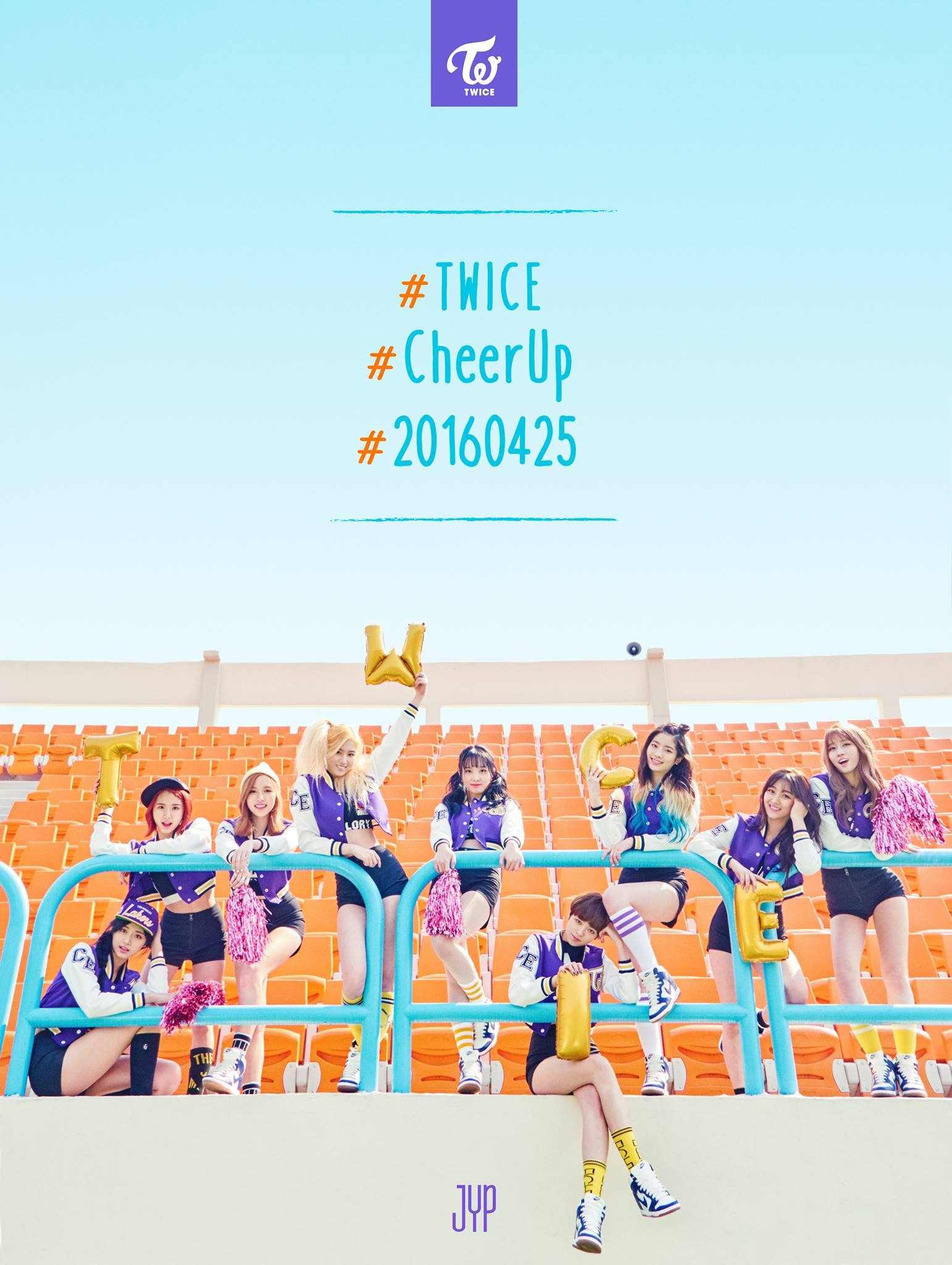 延續了JYP家喜歡在為旗下團體加入數字及英文字母命名的傳統,最近剛成軍滿300日的TWICE以《Cheer up》橫掃音源榜,到現在還在Melon音源的週榜上,