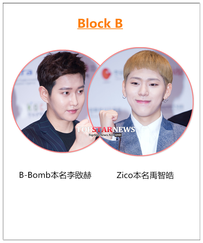 Zico是在日本留學的時候,日本人習慣稱智皓(Ji Ho)為Ji Co,後來就把Zico取為藝名了。而B-Bomb的韓語發音其實是非凡的意思。