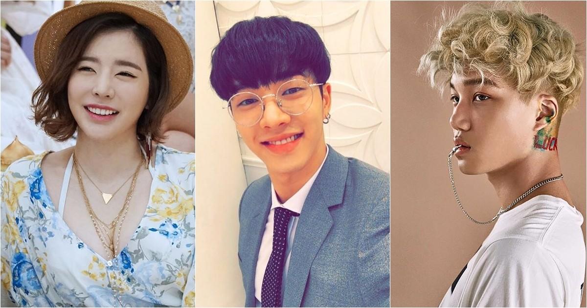 另外還有練習期間長達5年的代表的偶像有SNSD的Sunny(SM)、Beast起光(JYP+Cube)、EXO的Kai、原2NE1成員孔敏智(在YG出道)