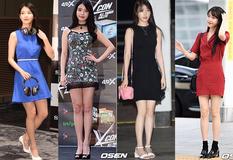 長度大約到大腿1/3-1/2處的小洋裝☆ 合身的剪裁,適當的長度,讓人感覺滿眼都是腿...誰還會說你格子矮XD..而且這樣的小洋裝穿起來會非常的漂亮,也適合任何場合,所以姐妹們一定要備喲~