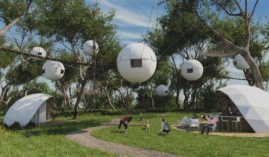 調整好相互間的距離,多掛幾個, 有一種外星飛船漂浮在空中的感覺呢(* ͡ ° ͜ʖ ͡ °*)