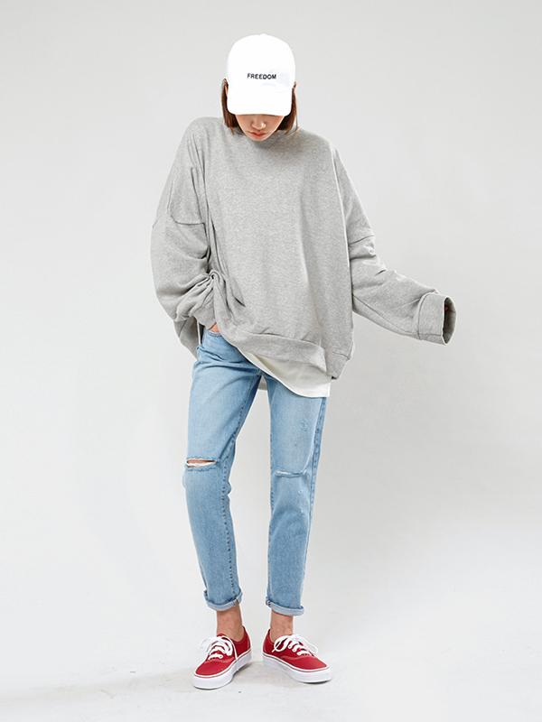 ✪ 借來他的衛衣 衛衣算是男生們最愛的單品之一了!既舒適又好用,還有種頹廢的街頭感。