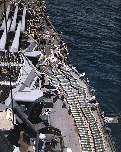 1944年 放在美國戰艦上的14英吋炮彈