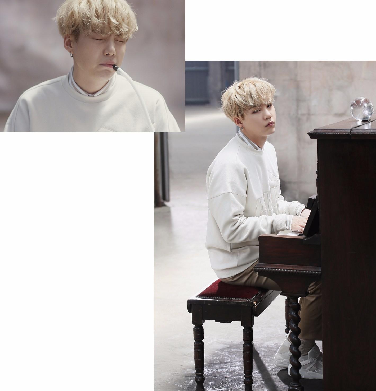 影片一開始SUGA以吹口風琴的樣子可愛的出場>///<
