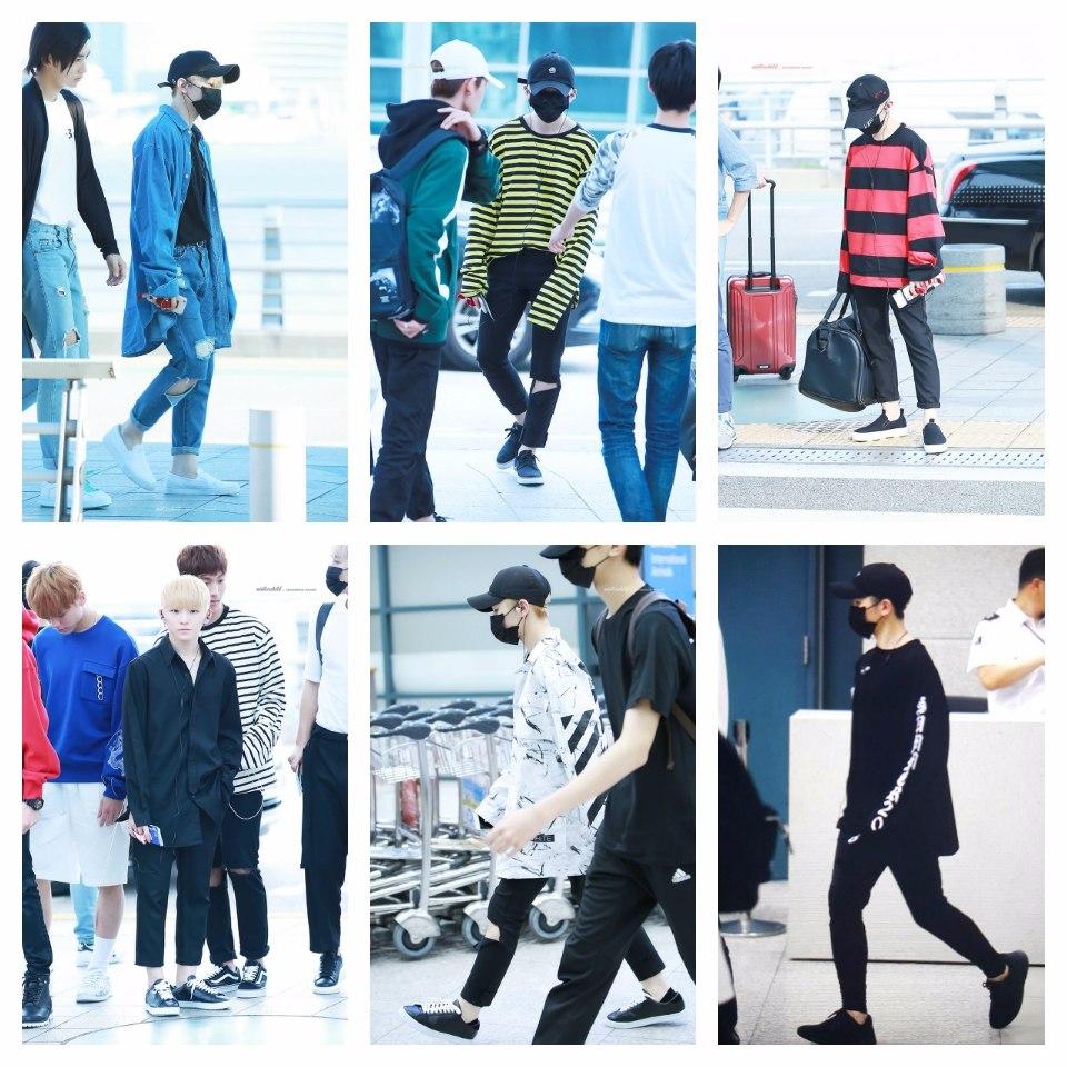 最近WOOZI機場時尚的照片... 讓克拉們驚呼超級霸氣>///< 就是這幾套...果然釜山真男人>_<
