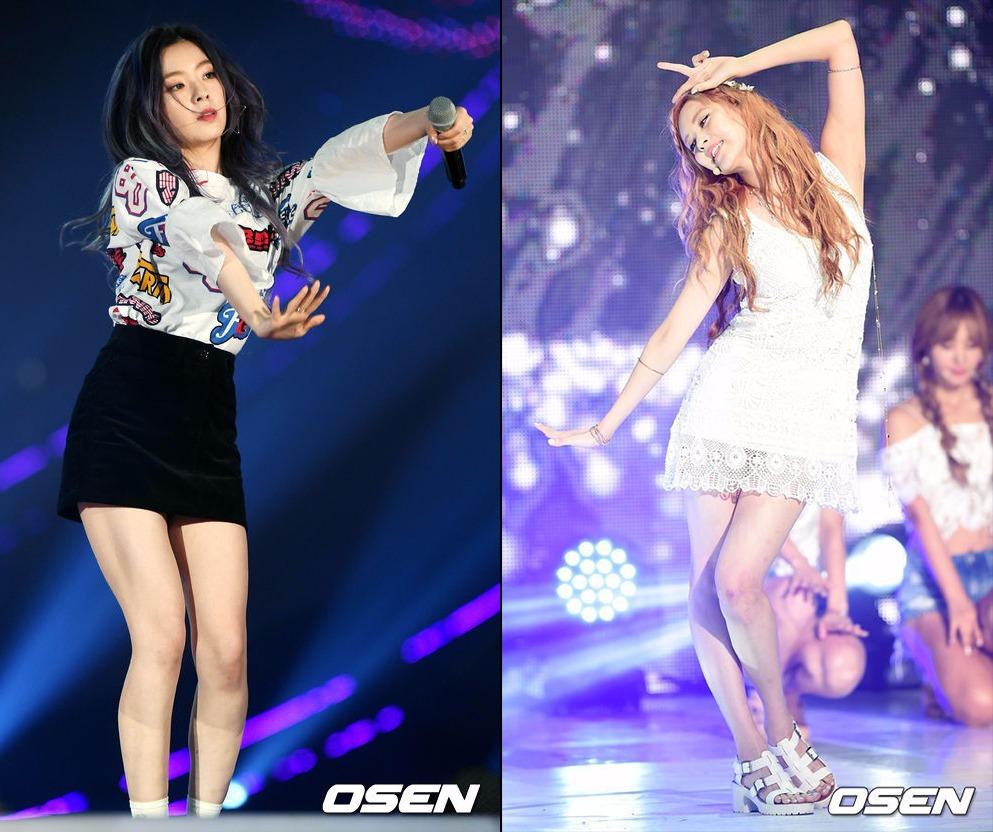 而存在巧合(?)的兩位成員分別是Red Velvet的隊長Irene和少女時代的忙內徐玄,大家有猜到了嗎?