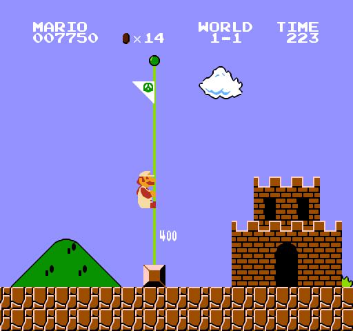 第8名<超級瑪莉> 沒想到這麼早就看到瑪莉兄弟登場,前面的遊戲到底有多強?為當時低靡的遊戲市場注入強心針的救世主,就算是電玩世界的麻瓜,也絕對聽過瑪莉兄弟的大名啊!
