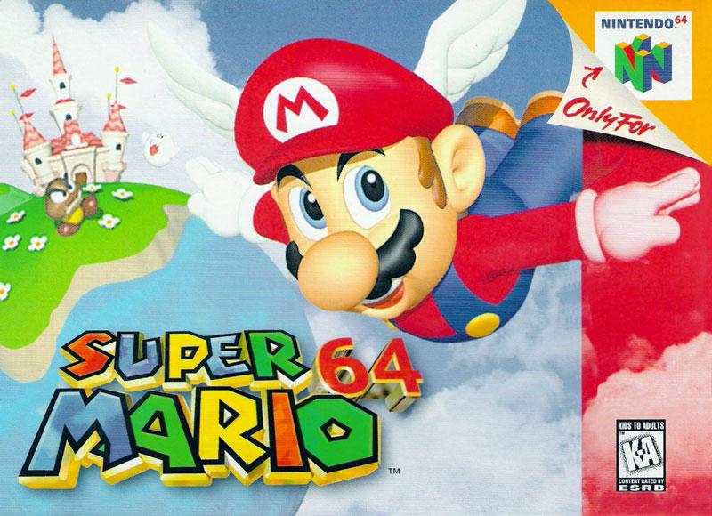 第2名<超級瑪莉 64> 在3D遊戲的轉換期登場的任天堂一哥<超級瑪莉64>絕對稱得上是傑作!要說這部遊戲是任天堂遊戲機的象徵也絕不為過,是有壓倒性驚人銷量的名作!