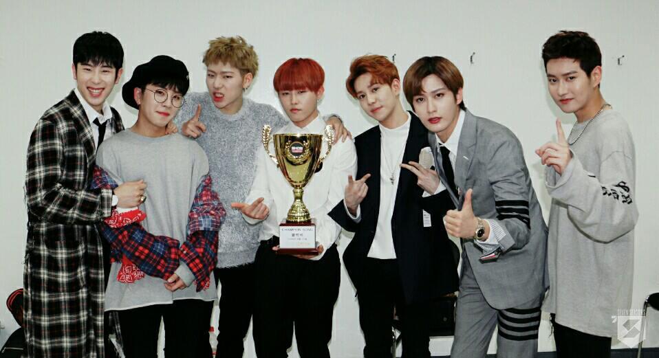 ♥第7名-Block B 出道日期:2011年4月15日(邁入出道第7年) 現任成員:泰欥、B-Bomb、宰孝、U-Kwon、朴經、ZICO、P.O