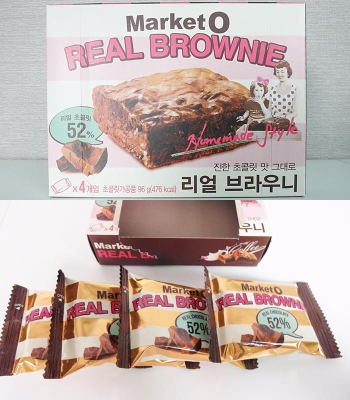 號稱吃起來和真實布朗尼相似的點心,已經在台灣流行很久了,歐膩這次是買4入組的。