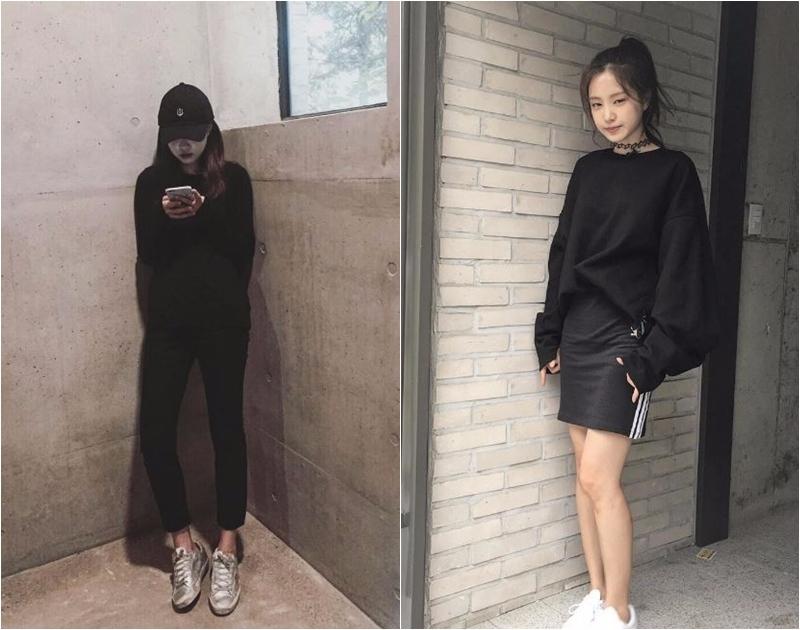 不只私下的照片隨便找一張就是all black,還被粉絲笑稱是「Adidas公務員」,明明就沒有為那個牌子代言,但連成員也說她老是穿著同一套的運動服到處晃