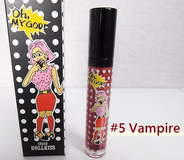 5號吸血鬼色,看起來被吸血鬼嚇到的女子圖樣